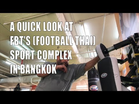Training at FBT's (Football Thai) Sport Complex in Bangkok