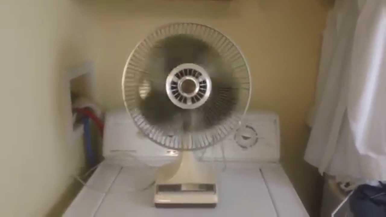 Sears Lasko 12 Inch Oscillating Desk Fan Youtube