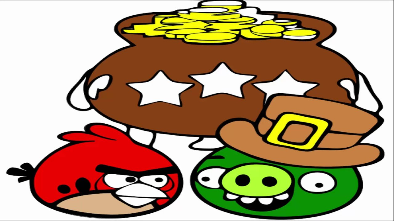 angry birds coloring pages red bird u0026 minion pig youtube