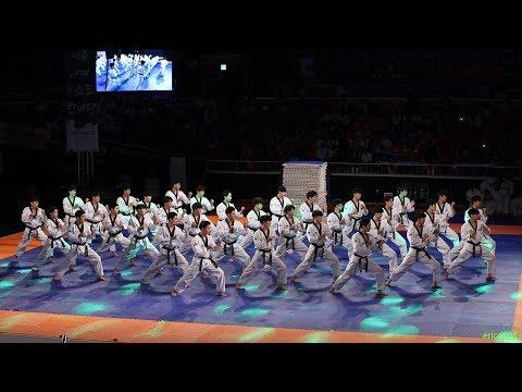 2018 鞝滌< 頃滊雼� Jeju World Taekwondo Hanmadang锛孫pening Ceremony锛孠ukkiwon Demonstration Team 甑赴鞗愶紝鍥芥妧闄�