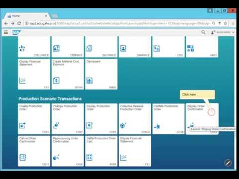 Display Order Confirmation by SAP Screen personas design Fiori