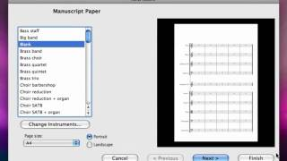 Learn Sibelius 6 in 1 Hour - Lesson 1, Setting up a score