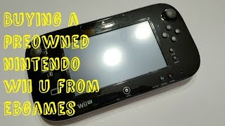 Unboxing a Preowned Nintendo Wii U from EBGames