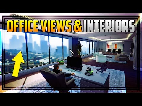 GTA 5 ALL 'OFFICE' VIEWS, ENTRANCES & INTERIORS! + How To Become a CEO! (Finance & Felony)
