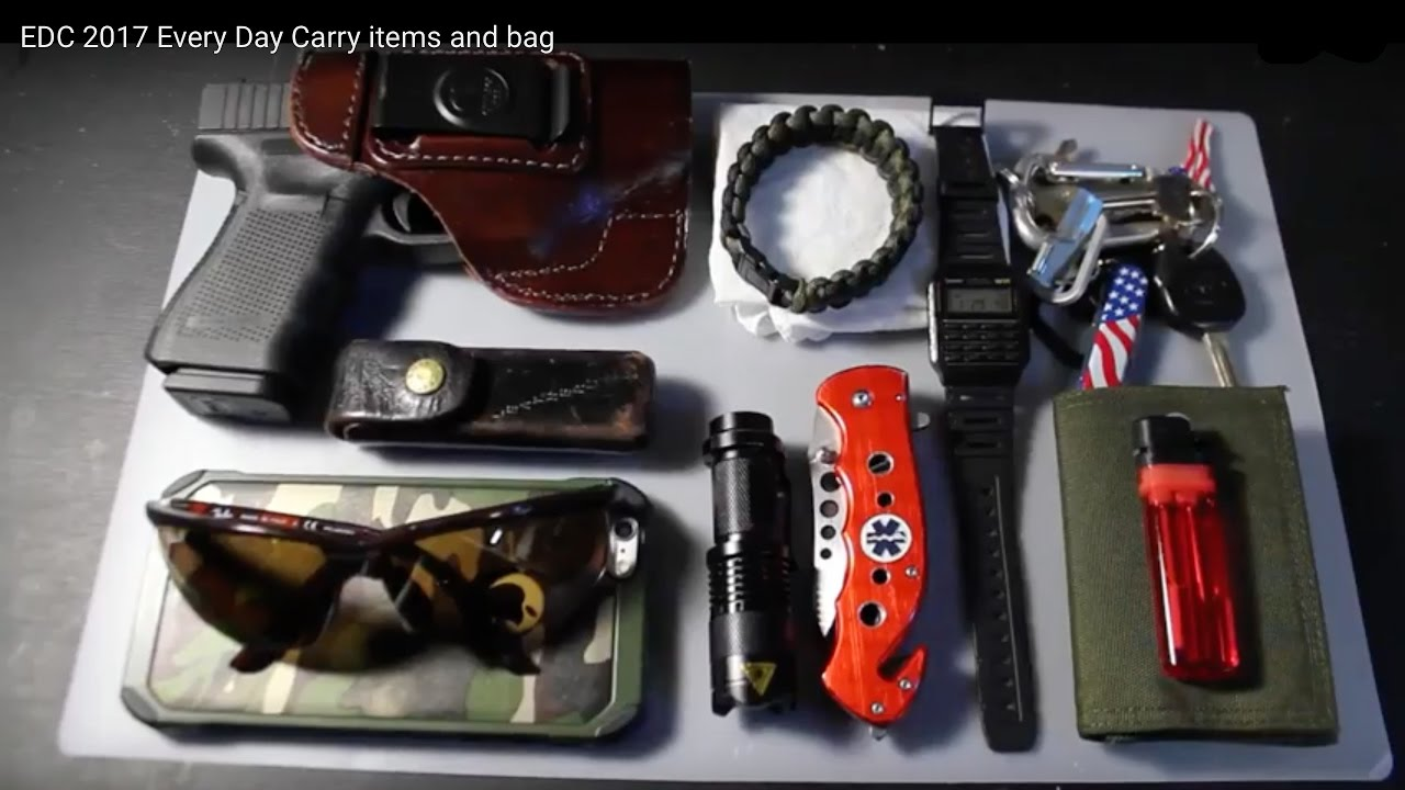 Edc 2017 Every Day Carry Items And Bag