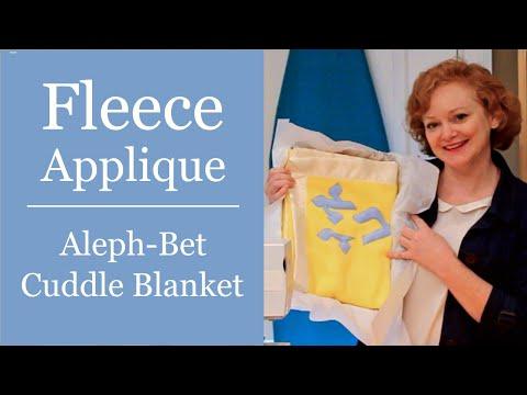 Fleece Appliques - Aleph-Bet Cuddle Blanket