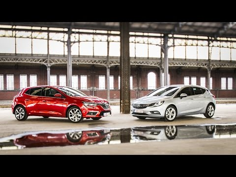 Essai vidéo comparatif Opel Astra 1.6 CDTi 110 - Renault Mégane 1.5 dCi 110