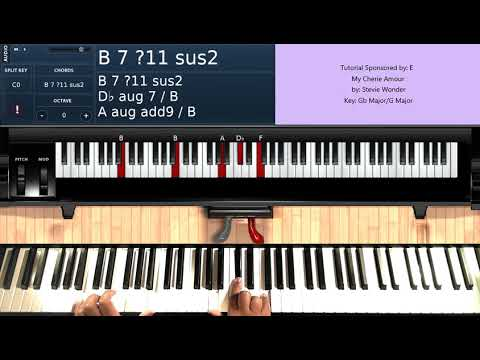 My Cherie Amour By Stevie Wonder Piano Tutorial Youtube