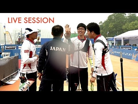 Shanghai 2014 Archery World Cup stage 1 -- LIVE recurve team finals