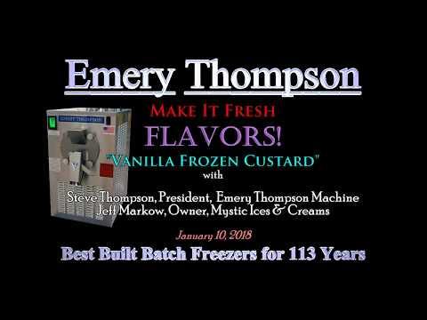Make It Fresh Flavors! Vanilla Frozen Custard