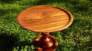 Wood Turning With Naked Turner New Exotic Cake Plate