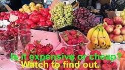 Fruits and Vegetables Bazaar in Russia/Russian Prices 2019
