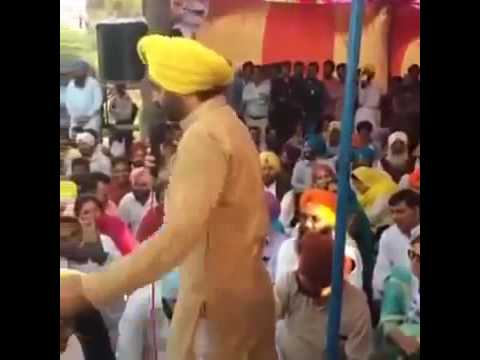 Bhagwant Mann Latest Speech at strike on SYL issue, Kapoori village, people agai