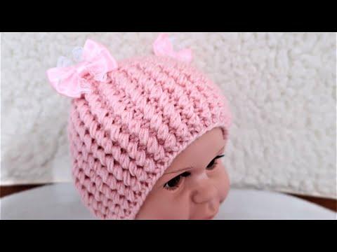 Вязание для начинающих спицами шапочки для новорожденных видео уроки