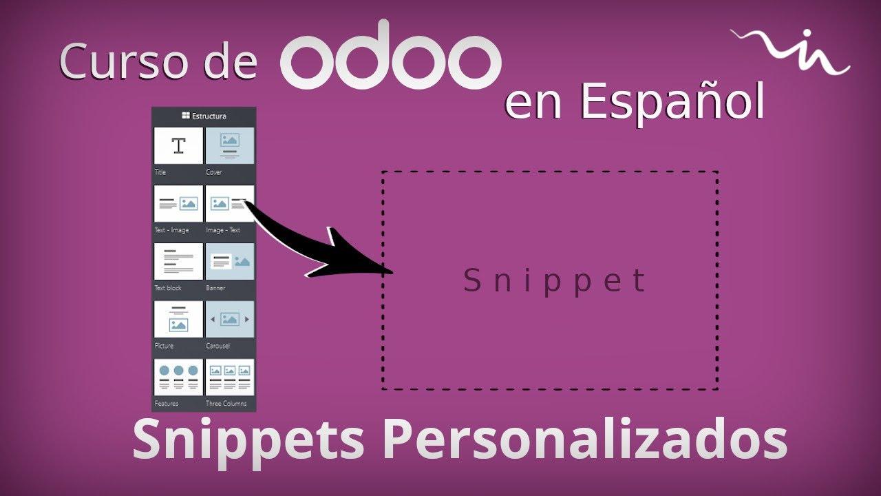 Cursos Odoo - Snippets básicos (HTML)