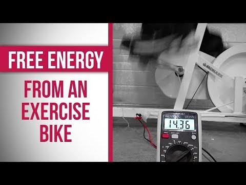 Making free energy with an exercise bike