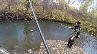 Ловля - Рыбалка на Хариуса ОСЕНЬ 2018 (малая речка ,,ЛИСТОПАД,,)