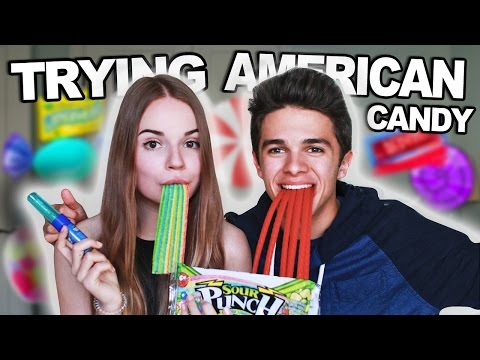 TRYING AMERICAN CANDY with Brent Rivera :D