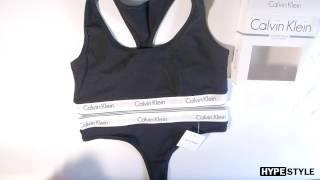 Обзор комплекта Calvin Klein ( топ и стринги / слипы)