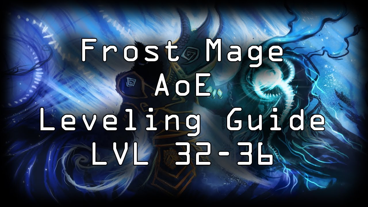WOW CLASSIC MAGE LEVELING GUIDE 32-36 AOE FARMING