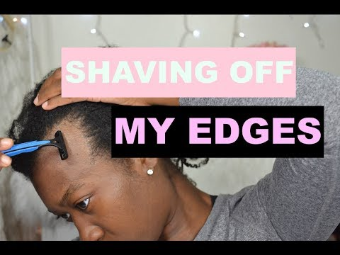 Shaving Off My Edges To Grow Them Back Fuller and Thicker | Traction Alopecia | Grow Edges Back #1