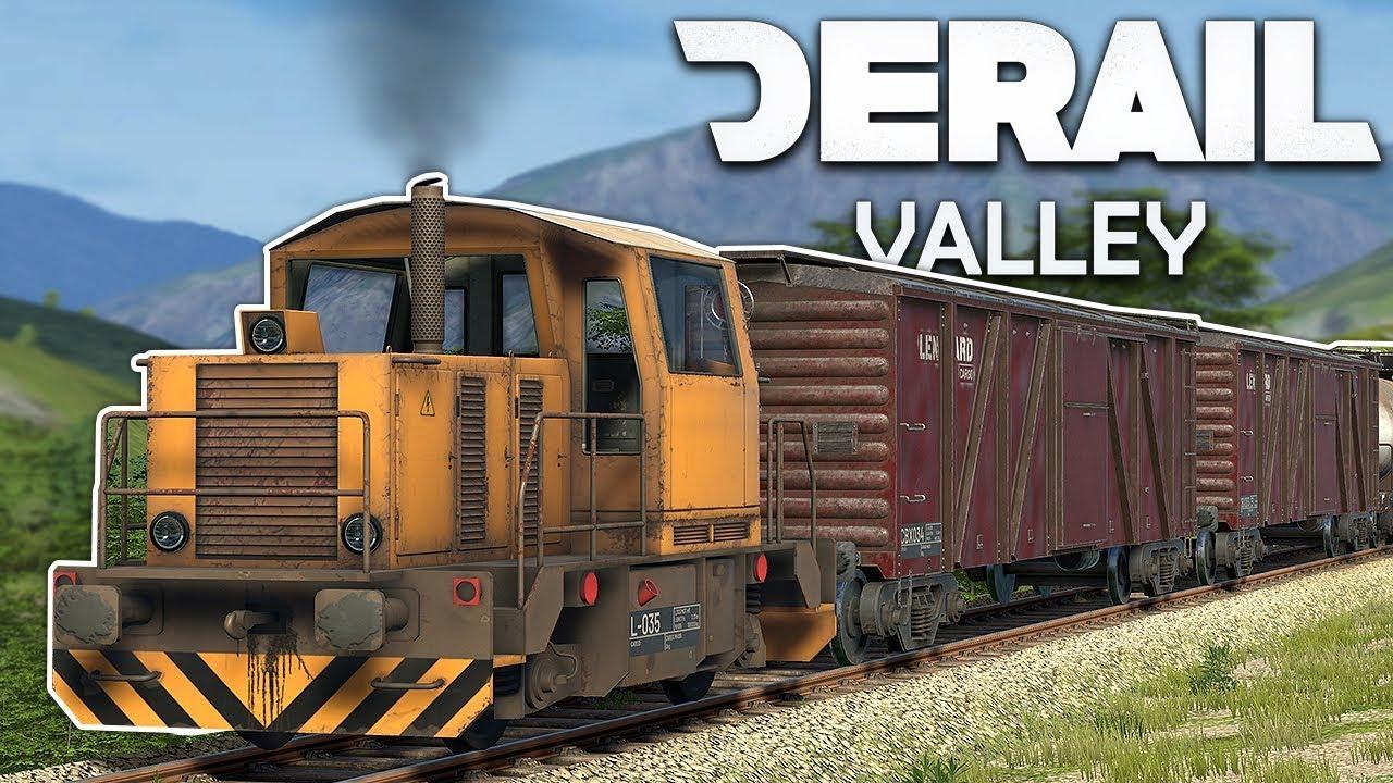 RIDING & CRASHING TRAINS IN VR! - Derail Valley VR Gameplay - Train  Simulator VR