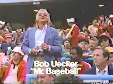 Miller Lite Commercial with Bob Uecker in the Wrong Seat 1984