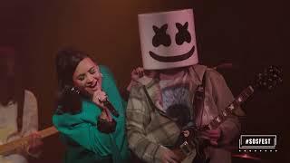 Download Lagu Marshmello Demi Lovato Ok Not To Be Ok Live From Troubadour Sosfest  MP3