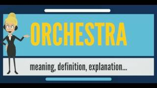 What is ORCHESTRA? What does ORCHESTRA mean? ORCHESTRA meaning, definition & explanation
