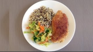 Crumbed Chicken Cooked With Coconut Oil