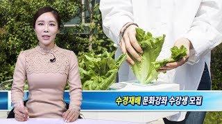 강북구 송중동 자치회관, 도시농업(수경재배) 강좌 수강…