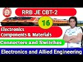 Class-16 | RRB JE CBT-2 | Connectors and Switches | Electronics Component and Material | Exam Guru