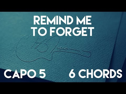 How To Play Remind Me To Forget by Kygo & Miguel   Capo 5 (6 Chords) Guitar Lesson