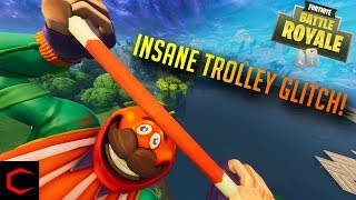 INSANE TROLLEY GLITCH IN FORTNITE!! - Fortnite Battle Royale Montage