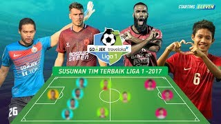 Susunan Tim Terbaik Liga 1 GojekTraveloka 2017 ● Starting Eleven
