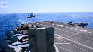 Supercarrier USS Theodore Roosevelt - Underway Replenishment (UNREP)