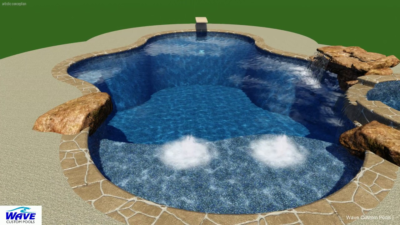 Jacuzzi Pool Youtube Custom Dive Pool With Spa