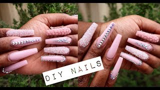 HOW TO DO NAILS AT HOME | ACRYLIC NAILS