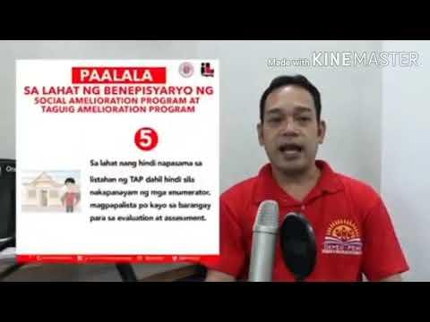 TAGUIG CITY SAP AND TAP DISTRIBUTION RULES | ILOVETAGUIG UPDATE