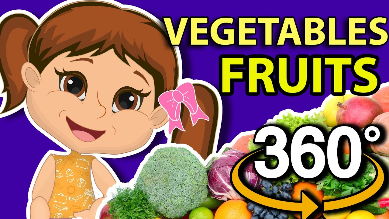 🍎  Top Facts about Fruits and Vegetables! 360! VR! Educatinal Video! Stay and Learning at Home! 🍅