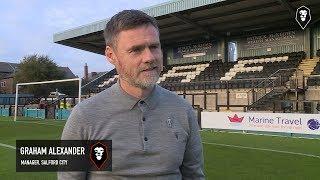 Marine 1-2 Salford City | Graham Alexander post-match interview | Emirates FA Cup Fourth QR