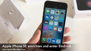Apple iPhone SE einrichten und erster Eindruck