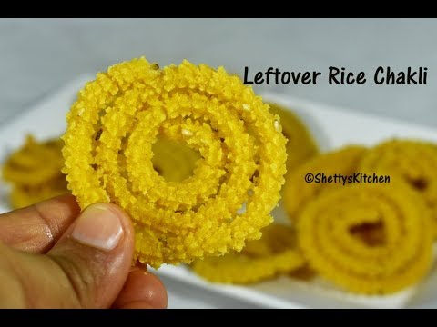 Leftover rice chakli | Instant Chakli Recipe with cooked rice | Rice murukku recipe