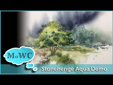 Stonehenge Aqua Watercolor Paper Review And Demo