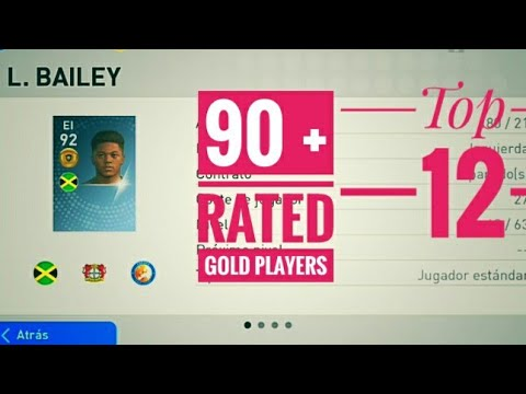 Top 12 90+ rated gold ball players @ their max level   pes 2019 mobile    Mallu Tech