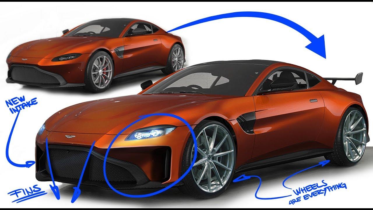 2019 Aston Martin Vantage Re Design Modifying A Picasso Youtube