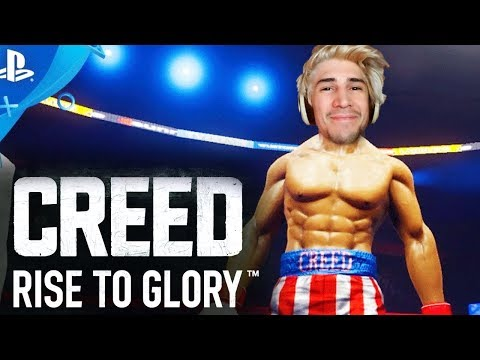 xQc Plays the VR Boxing Game CREED: RISE TO GLORY | with Chat