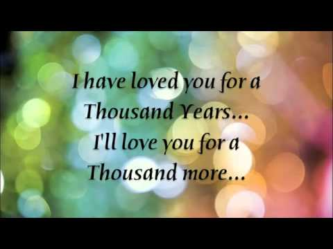 A Thousand Years  Christina Perri Lyrics