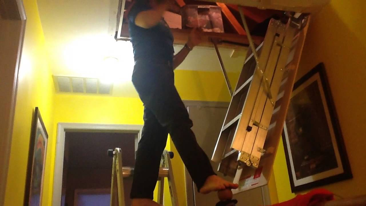 Attic Stair Installation One Person