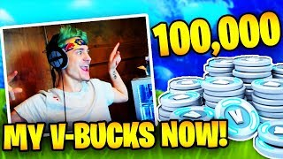 NINJA BUYS 100K V BUCKS ON FORTNITE! | Fortnite Battle Royale